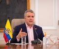 Presidente Iván Duque, durante una intervención desde la Casa de Nariño