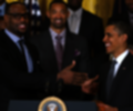 Lebron James junto a Barack Obama