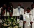 Familia de George Floyd en su funeral en Houston