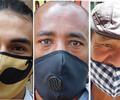 Rostros de vendedores informales, en Bogotá.