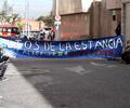 La protesta de familias de Altos de la Estancia en Caja de Vivienda Popular