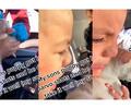 Niño llora luego de que su pequeño perro ladrara tras ser vacunado