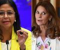 Delcy Rodríguez y Marta Lucía Ramírez
