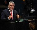 Presidente Iván Duque en Asamblea General 76 de la ONU en Estados Unidos.