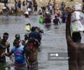 Migrantes haitianos en la frontera sur Texas