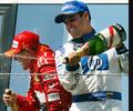 Juan Pablo Montoya y Michael Schumacher en Formula 1