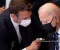 Emmanuel Macron y Joe Biden