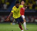 Miguel Ángel Borja con la Selección Colombia ante Chile