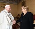 Papa Francisco y Ángela Merkel