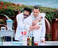 Frank Martínez junto a Gregorio Pernía en Master Chef Celebrity