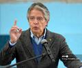 Guillermo Lasso, presidente de Ecuador, ofrece un discurso