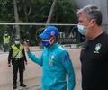 Neymar en Barranquilla con la Selección de Brasil